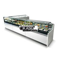 Tủ trưng bày bánh góc đôi OKASU BX-700FL