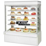 Tủ bánh kem dạng đứng 5 tầng OKASU OKS-120 (Đá trắng)