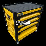 Tủ dụng cụ gia đình 4 ngăn có khóa OKASU F0RD4-Y (Vàng)