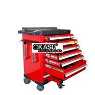 Tủ đồ nghề 6 ngăn màu đỏ đen KC-142PCS