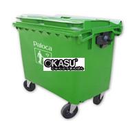 Thùng rác nhựa 660 lít TRN660