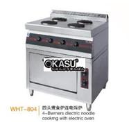 Bếp điện nấu mì 4 đầu kèm lò nướng Wailaan WHT-804