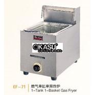 Bếp chiên nhúng chạy gas 1 bồn 1 rổ Wailaan EF-71