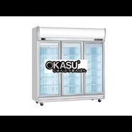 Tủ đông 3 cánh kính Okasu 3D/DF-SG-EV