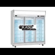 Tủ đông mát 3 cánh kính Okasu 3D / D2F1C-SM