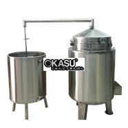 Nồi nấu rượu inox 40 kg/mẻ OKASU KS-NR40