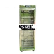 Tủ sấy chén bát 1 cánh kính sấy bằng thanh nhiệt OKASU KS-TSC1C