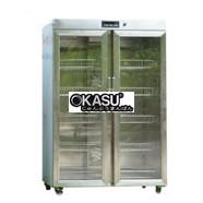Tủ sấy chén bát 2 cánh kính sấy bằng thanh nhiệt OKASU KS-TSC2C