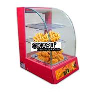Tủ giữ nóng thức ăn 1 khay kính cong KS-TGN1P