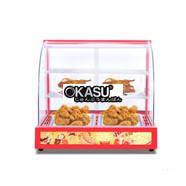 Tủ giữ nóng thức ăn 2 khay kính cong KS-TGN2P