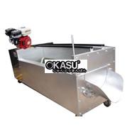 Máy rửa khoai lang, khoai môn, cà rốt bằng máy nổ (động cơ xăng)