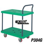 Xe đẩy tay sàn nhựa 300 kg 2 tầng P304G