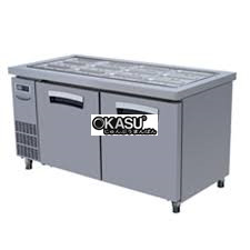ban mat inox salad 2 canh lassele 375 lit lsrt-2b-1500   hinh 1
