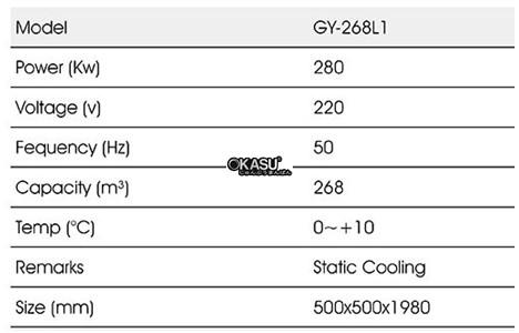 tu mat trung bay 1 canh okasu gy-268l1 hinh 2
