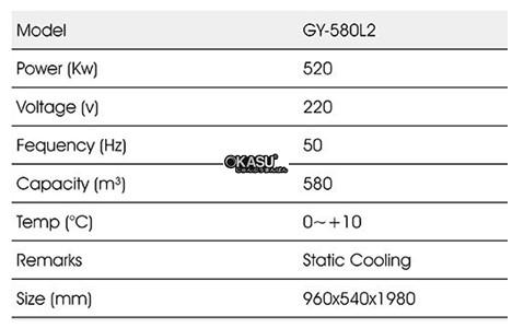 tu mat trung bay 2 canh okasu gy-580l2 hinh 2