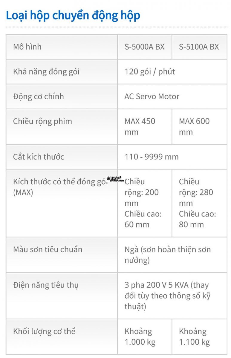 may dong goi san pham s-5000a bx hinh 0