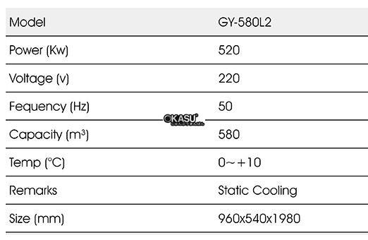 tu mat trung bay 2 canh okasu gy-580l2 hinh 0